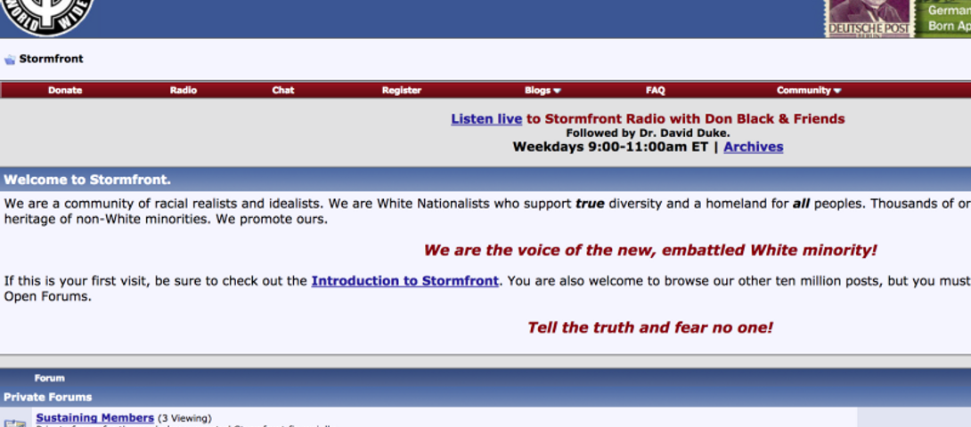 FBI Says It Lost Files On Neo-Nazi Website Stormfront – The Forward