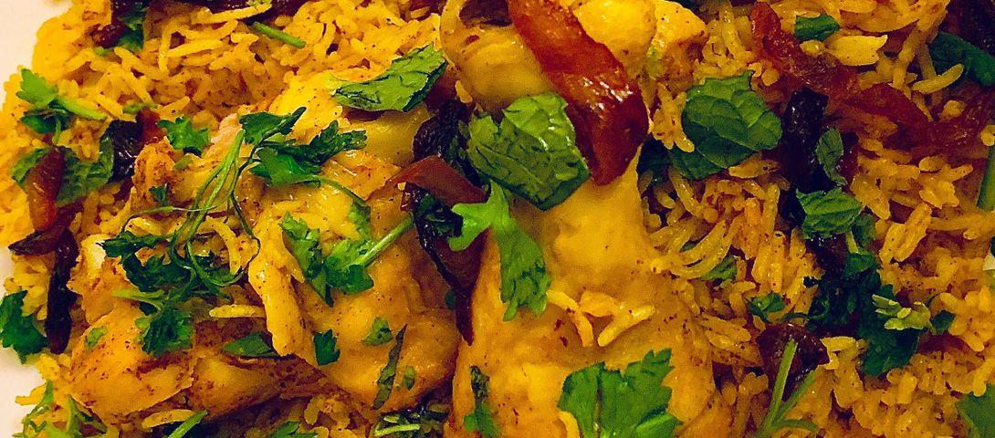 Saffron Chicken Biryani