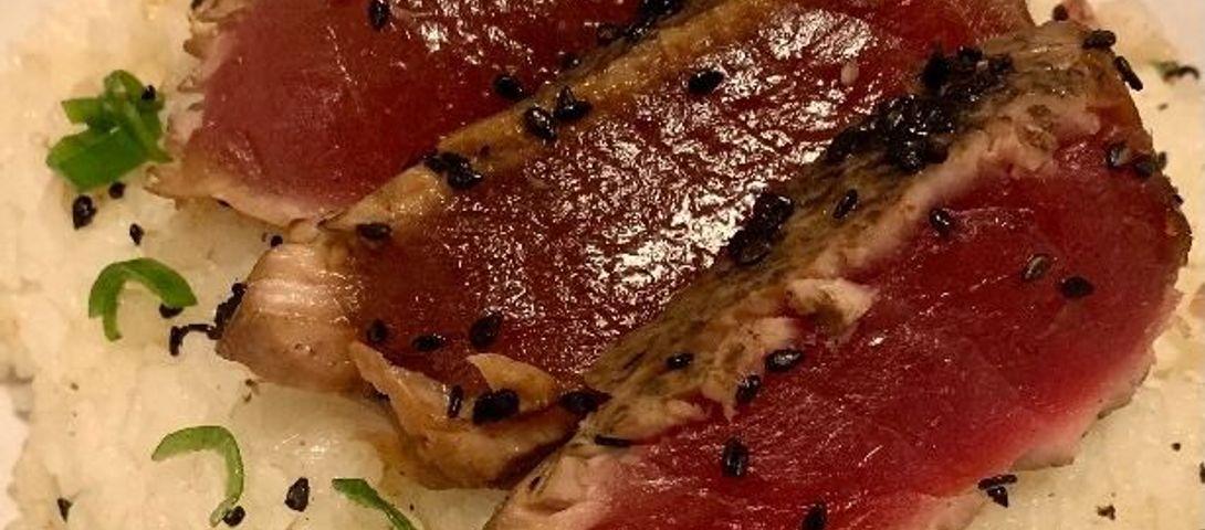 Seared Tuna on Sushi Rice