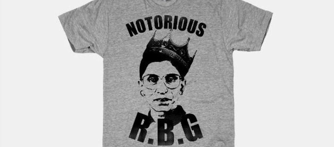 c298a979 Ruth Bader Ginsburg Collects 'Notorious RBG' T-Shirts – The Forward