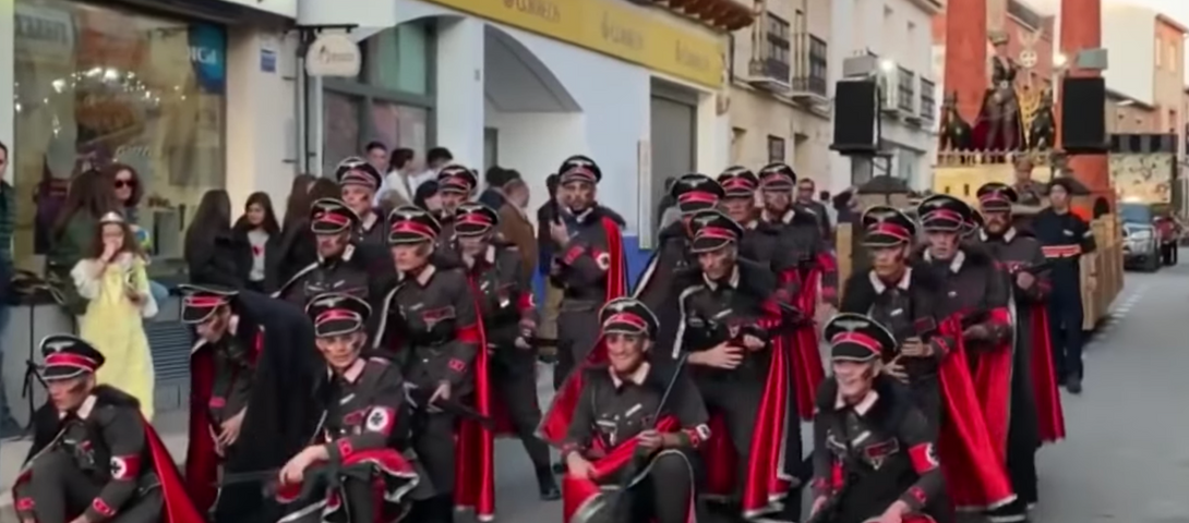 Carnival parade in Spain features Nazi uniforms, trains with crematoria