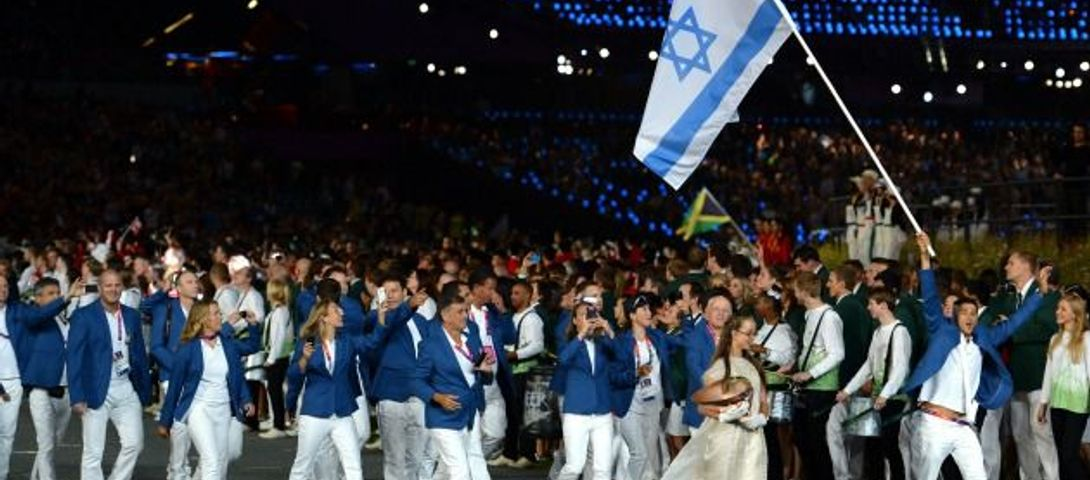 Olympics black hand israeli athletes, woman and beds