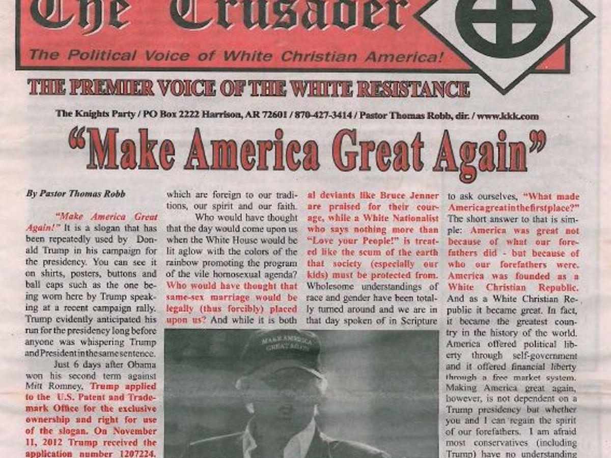100K death celebration - Page 3 Kkk-newspaper-trump-endorsement-1478024176
