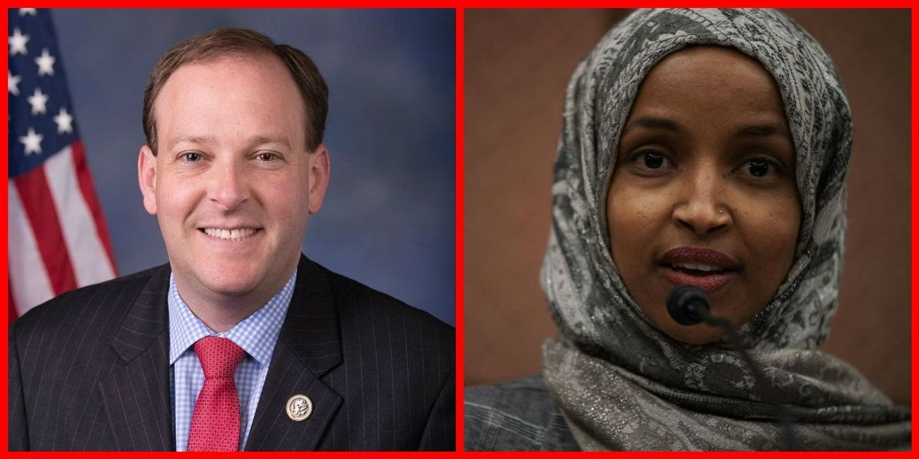 ilhan omar  lee zeldin are fighting over anti
