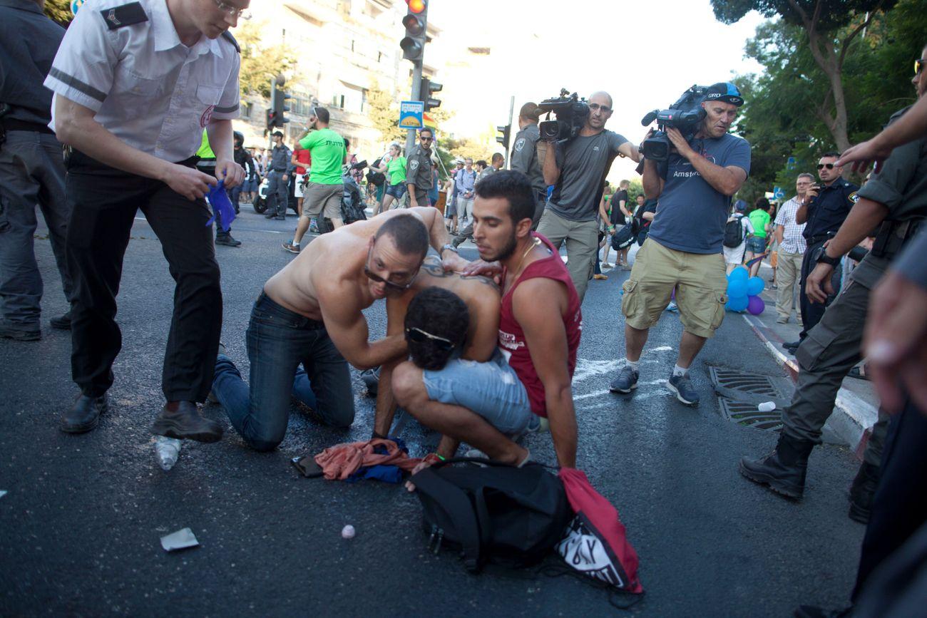 Six stabbed as assailant repeats gay pride