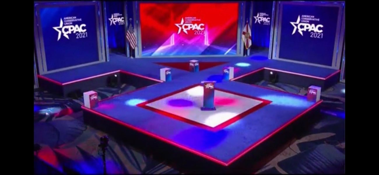 Design firm takes responsibility for CPAC stage design that resembled a Nazi insignia