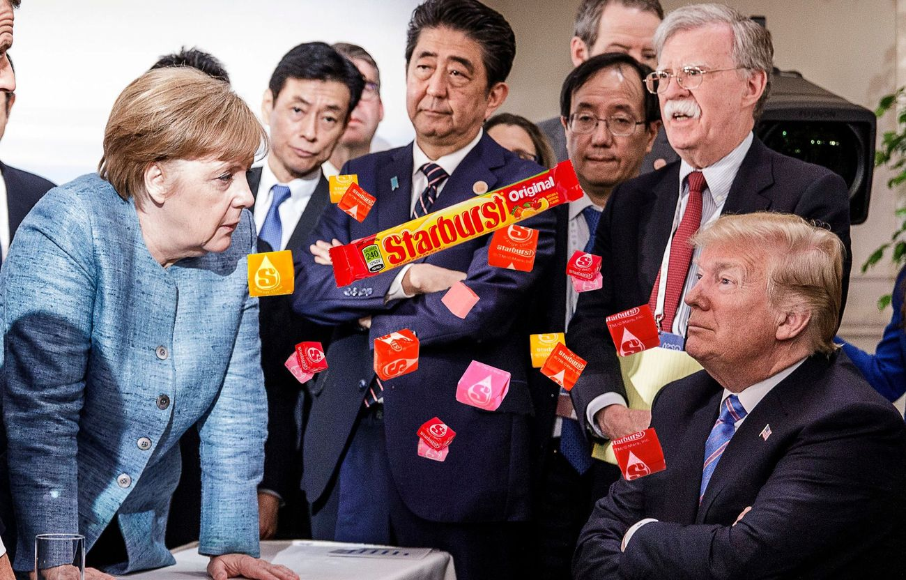 When Trump Tossed Starburst At Angela Merkel
