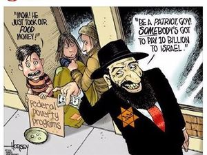 Image result for 'F*** the Jews' CARTOON