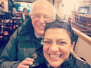 Image result for bernie sanders with rashida tlaib