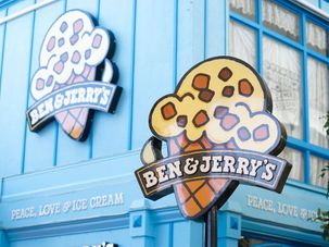 Ben and Jerry's by the striker