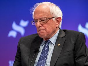 Democratic presidential candidate Senator Bernie Sanders speaks to a crowd at the She The People Presidential Forum at Texas Southern University on April 24, 2019 in Houston, Texas. by the Forward