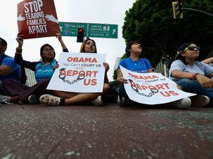 Obama immigration protest by the Forward