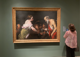 """Bernardo Strozzi's 1600s era """"Act of Mercy: Giving Drink to the Thirsty"""" was confiscated from Viennese Jewish industrialist Oscar Bondy and earmarked for Hitler's planned Fuhrermuseum. by the Forward"""