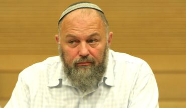 Effi Eitam in the Knesset in Jerusalem, June 30, 2008. by the Forward