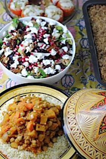 Veggies in the Sukkah — A Delicious Harvest Meal
