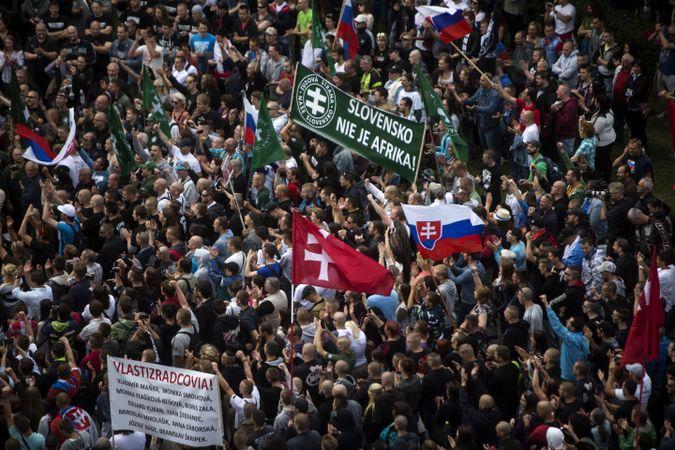 Protiimigračné zhromaždenie Forward Slovakia