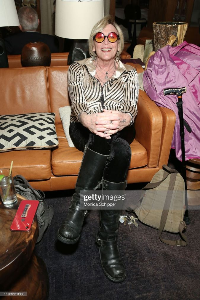 Kate Bornstein attends Special Performance of Dionne Warwick hosted by Saks Fifth Avenue at Chalet at L'Avenue at Saks on December 10, 2019 in New York City.  from the front