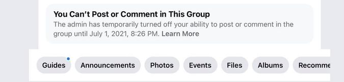 A screenshot by Rosie Schwartz showing that she has been muted in the Global Freelancers group. by the Forward