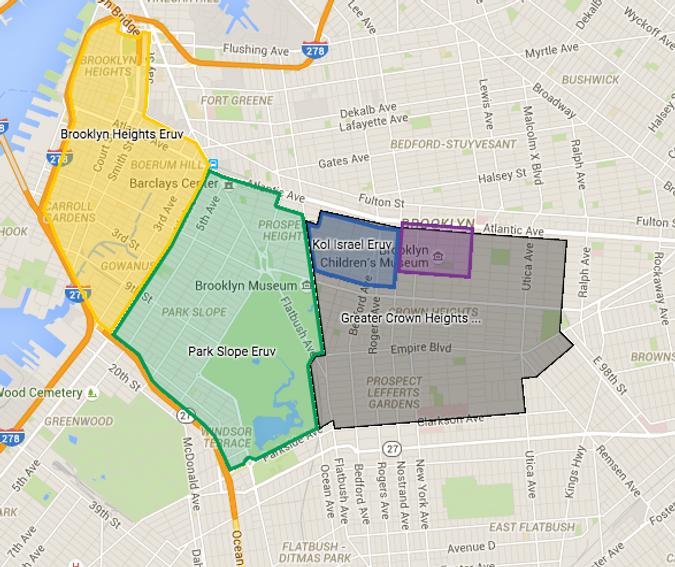 crown heights brooklyn map Brooklyn Eruv Feud Between Hasidic And Modern Orthodox Spreads To crown heights brooklyn map