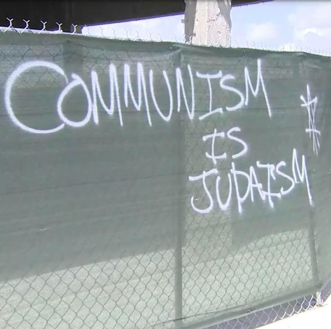 Anti-Semitic graffiti in Miami, Florida, USA