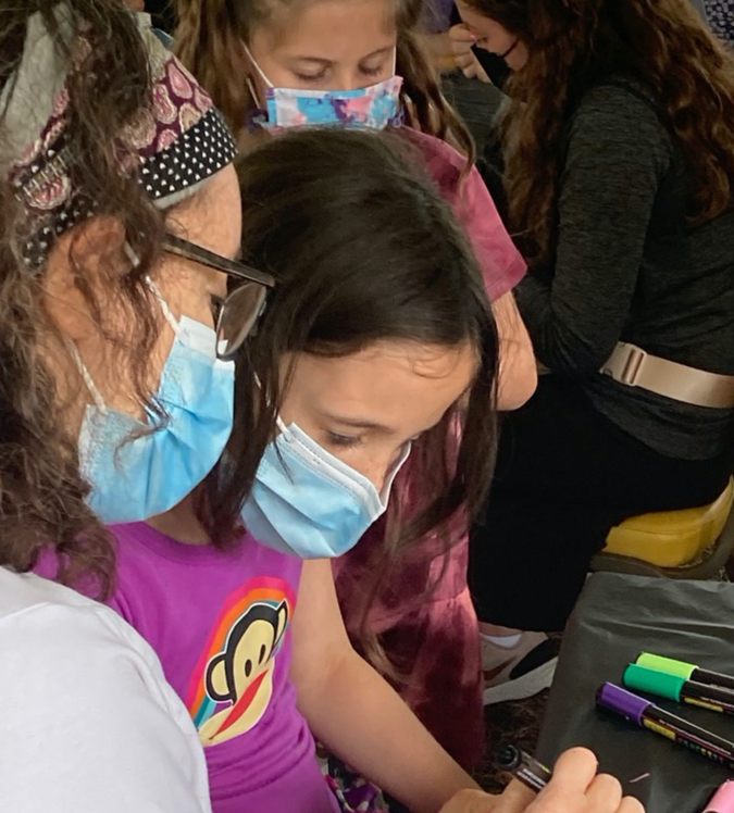 Painting kindness rocks with Yachad, the Orthodox Union's group dedicated to enhancing the life opportunities of Jewish individuals with disabilities by the Forward