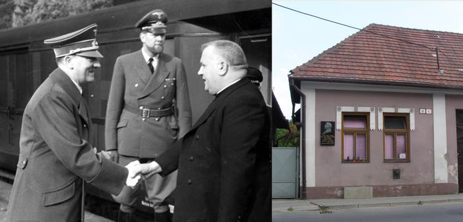 Joseph Diso s Adolfom Hitlerom;  Diso sa narodil v Pitii na Slovensku