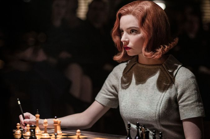"""Anya-Taylor Joy as Beth Harmon in """"The Queen's Gambit."""" by the Forward"""
