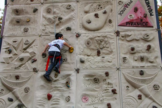 Wall climbing by the Forward