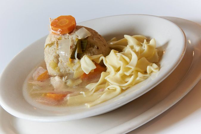 Zaidy's Deli Matzoh ball soup from the striker