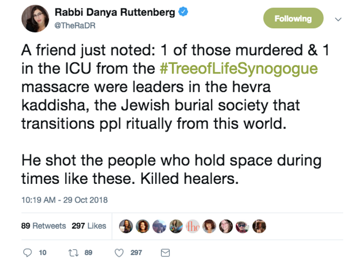 Pittsburgh Victims Were Part Of Jewish Group That Prepares