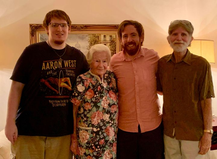Ruth Nussbaum with her son, right, and two grandsons. Photo by Ruth Nussbaum