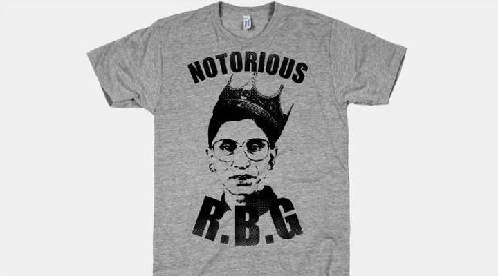 67cf29af7 Ruth Bader Ginsburg Collects 'Notorious RBG' T-Shirts. October 20, 2014 By  Anne Cohen. by the Forward