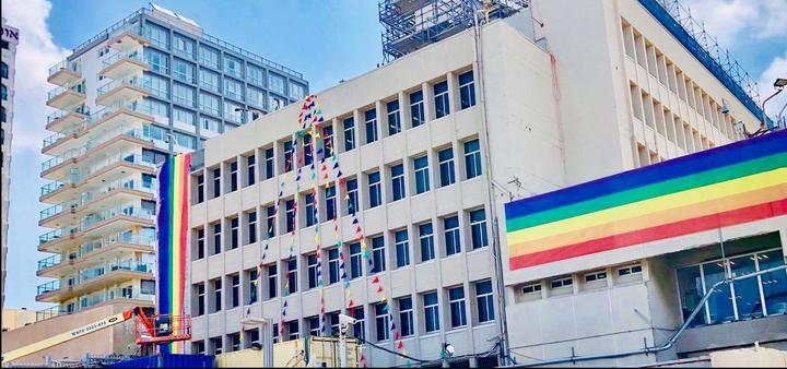 US Embassy Branch In Tel Aviv Decorated For Pride Parade Despite Trump Ban
