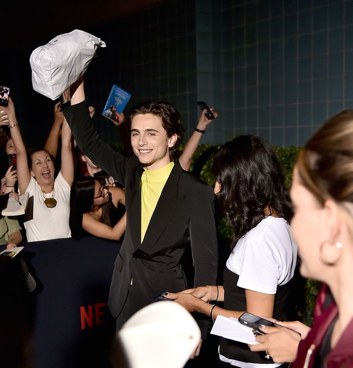 Timothée Chalamet Handed Out Bagels On The Red Carpet On Rosh Hashanah