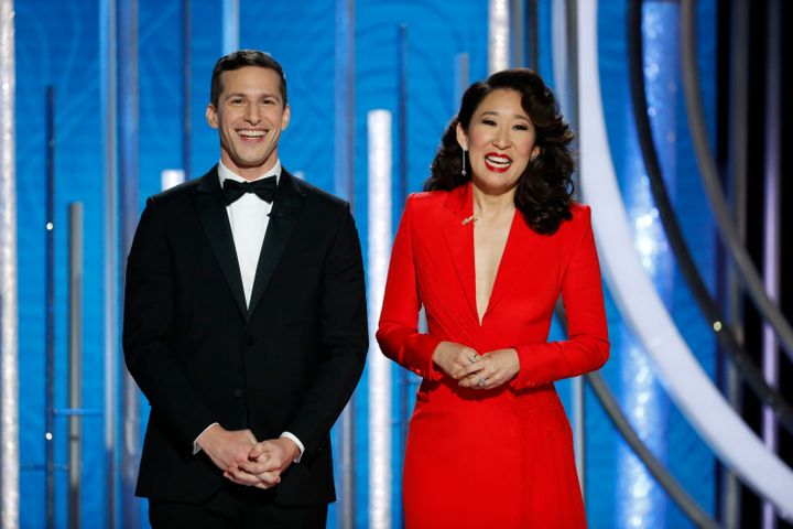A Jew And An Asian Host The Golden Globes. The Joke: They Are Kind And Love  Their Moms.