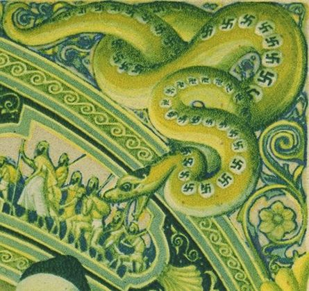 Swastikas on a Snake in the Szyk Haggadah by the Forward